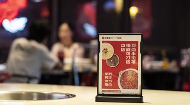 FOTO: Restoran di Chengdu Kampanyekan Kurangi Limbah Makanan