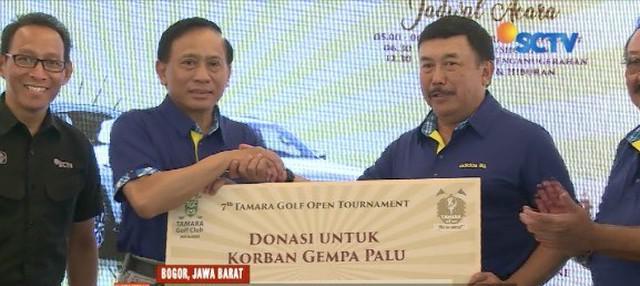 YPP SCTV-Indosiar salurkan bantuan dari Tamara Golf Club untuk korban bencana di Palu dan Donggala, Sulawesi Tengah.
