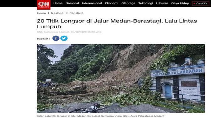Gambar Tangkapan Layar Artikel dari Situs cnnindonesia.com.
