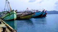 Kapal nelayan Natuna. (Dok. Ajang Nurdin)