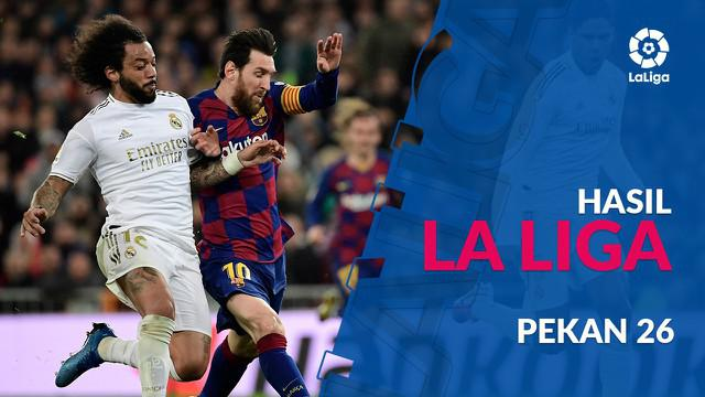 Berita video hasil La Liga 2019-2020 pekan ke-28. Real Madrid kalahkan Barcelona, Senin (2/3/2020) di Santiago Bernabeu, Madrid.