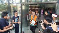 Tersangka kasus jual beli jabatan di Kementerian Agama, Romahurmuziy. (Liputan6.com/Nanda Perdana Putra)