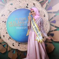 Saat mengikuti ajang kecantikan Puteri Muslimah ini Syifa memang tak menargetkan untuk menjadi pemenang. Ia pun terkejut ketika namanya diumumkan sebagai pemenang, pasalnya ia juga mengagumi peserta lainnya. (Adrian Putra/Bintang.com)