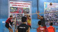 Surabaya Bhayangkara Samator ingin mempertahankan gelar juara Proliga. (Bola.com/Aditya Wany)