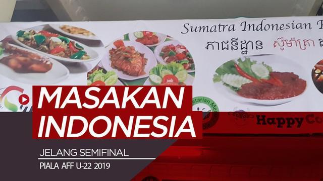 Berita video vlog Bola.com kali ini berkunjung ke restoran yang menyajikan masakan Indonesia di Kamboja jelang semifinal Piala AFF U-22 2019, Timnas Indonesia vs Vietnam.
