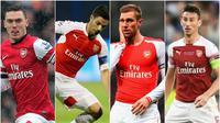 Siapa yang berpeluang menjadi kapten Arsenal berikutnya? (Bola.com/Aditya Wicaksono)