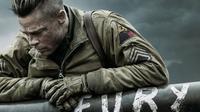 Brad Pitt dalam film terbarunya Fury