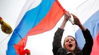 Ilustrasi Rusia dan Bendera Rusia (AP PHOTO/Alexander Zemlianichenko)