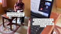 Perjuangan dosen mengajar kelas online di tengah pandemi COVID-19 (@ikraangluarga/tiktok.com).
