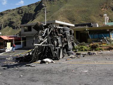 24 Turis Venezuela dan Kolombia Tewas dalam Kecelakaan Bus di Ekuador