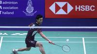 Langkah tunggal putra Indonesia Shesar Hiren Rhustavito pada Thailand Open 2019 terhenti di perempat final usai kalah dari wakil Malaysia, Shesar Hiren Rhustavito, Jumat (2/8/2019). (foto: PBSI)