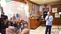 Wakil Ketua MPR RI, Sjarifuddin Hasan saat menyampaikan Sosialisasi Empat Pilar MPR dihadapan anggota HIPMI Kota Bogor, Rabu (18/11/2020).
