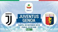 Jadwal Serie A 2018-2019 pekan ke-9, Juventus vs Genoa. (Bola.com/Dody Iryawan)
