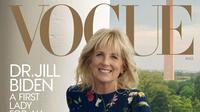 Jill Biden jadi sampul majalah Vogue edisi Agustus 2021. (dok, Instagram @voguemagazine/https://www.instagram.com/p/CQtCZKBg65g/)