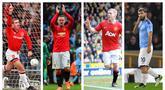 Kempulan foto-foto pencetak gol terbanyak dalam laga derby Manchester. (Foto: AP & AFP)