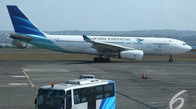 Pesawat Terbang Garuda Indonesia (Liputan6.com/Fahrizal Lubis)