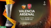 Liga Europa - Valencia Vs Arsenal (Bola.com/Adreanus Titus)
