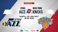 Jadwal NBA, Utah Jazz Vs New York Knicks. (Bola.com/Dody Iryawan)