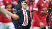 Manajer Manchester United asal Belanda, Louis van Gaal. (AFP/Paul Ellis)