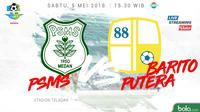 Liga 1 2018 PSMS Medan Vs Barito Putera (Bola.com/Adreanus Titus)