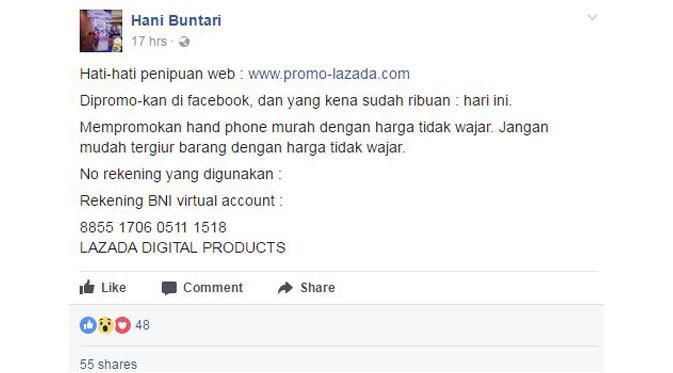 Hati Hati Tertipu Promosi Di Situs Web Lazada Palsu Tekno