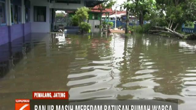 Banjir yang merupakan air luapan Sungai Sragi ini membanjiri permukiman warga dengan ketinggian berkisar antara 20 sentimeter hingga 1 meter.