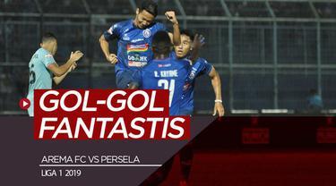 Berita video gol-gol fantastis yang tercipta saat Arema FC menaklukkan Persela Lamongan 3-2 di Stadion Kanjuruhan dalam lanjutan Shopee Liga 1 2019, Senin (27/5/2019).