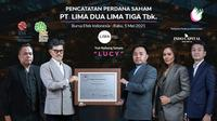 Pencatatan perdana saham PT Lima Dua Lima Tiga Tbk (LUCY) pada Rabu, (5/5/2021) (Dok: BEI)