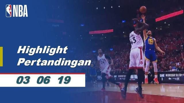Berita video highlights pertandingan game 2 Final NBA 2019 antara Golden State Warriors melawan Toronto Raptors yang berlangsung sengit, Senin (3/6/2019) WIB.
