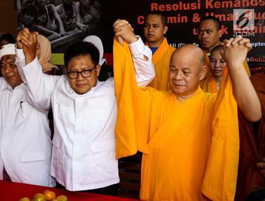 Muhaimin Iskandar Bersama Umat Buddha Gelar Dukungan untuk Muslim Rohingya