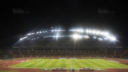 Suasana laga Liga Premier Malaysia antara Felcra FC melawan PDRM di Stadion Shah Alam, Selangor, Jumat (2/2/2018). Kedua klub bermain imbang 1-1. (Bola.com/Vitalis Yogi Trisna)