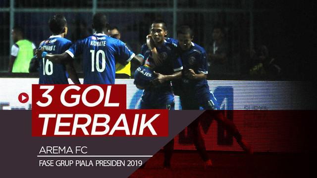 Berita video 3 gol terbaik Arema FC yang tercipta pada fase grup Piala Presiden 2019.