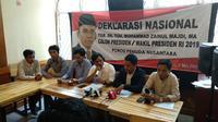 Poros Pemuda Nusantara mendeklarasikan dukungan kepada TGB. (Liputan6.com/Putu Merta Surya Putra)