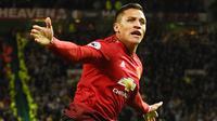 4. Alexis Sanchez (Manchester United) – Striker Chile ini menjadi pemain dengan bayaran tertinggi di Premier League. Mantan Bintang Arsenal ini mendapat 2,28 juta euro per bulan di Manchester United. (AFP/Oli Scarff)
