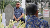 Potret SBY Saat Mengunjungi Makam Ibu Ani Ini Bikin Haru (Sumber:Instagram/admirealiya)