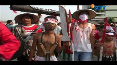 Sambut HUT ke-72 RI, Warga Kampng Pulo Berkostum Pejuang