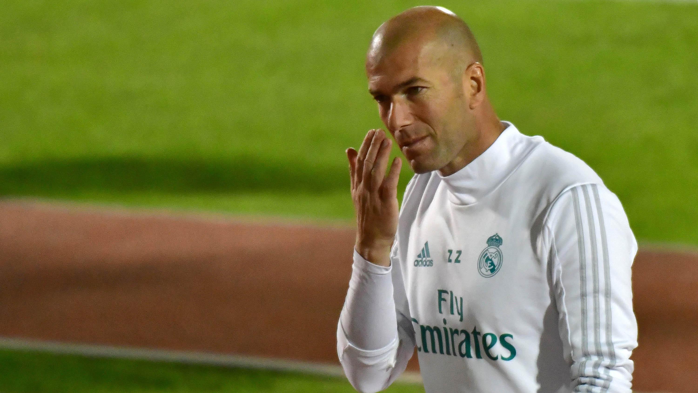 Pelatih Real Madrid, Zinedine Zidane. (AFP/Giuseppe Cacace)
