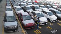 Kegiatan ekspor Toyota (Foto: Istimewa).