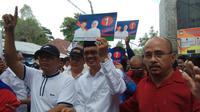 Paslon petahana Pilkada Palembang mendapat nomor urut 1 (Liputan6.com / Nefri Inge)