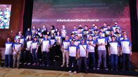 Jakarta Pertamina Energi saat menggelar perkenalan tim jelang Proliga 2018 di Jakarta, Kamis (22/11/2018). (Istimewa)