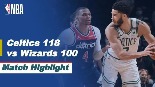 Berita video highlights laga Play-in NBA 2020/2021 antara Boston Celtics melawan Washington Wizards yang berakhir dengan skor 118-100, Rabu (19/5/2021) pagi hari WIB.