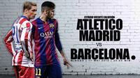 Atletico Madrid vs Barcelona (Liputan6.com/Andri Wiranuari)