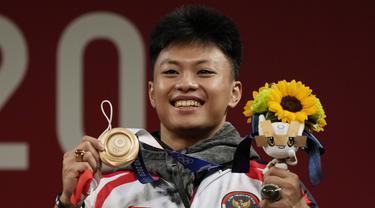 Foto: Rahmat Erwin Abdullah Sumbang Medali Perunggu dari Cabang Angkat Besi Kelas 73 Kg Putra Olimpiade Tokyo 2020