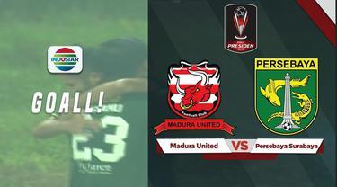 Berita video highlights kerja sama dari Otavio Dutra dan Hansamu Yama yang menghasilkan gol kemenangan untuk Persebaya saat menghadapi Madura United.