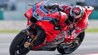 Setelah semusim beradaptasi bersama Ducati, Jorge Lorenzo diprediksi bakal bangkit dan turut dalam persaingan gelar MotoGP 2018. (AFP/Mohd Rasfan)