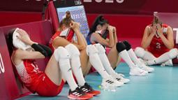 Kekalahan tim Turki ini bisa dibilang sebuah kejutan lantaran diatas kertas Turki merupakan tim unggulan yang menempati posisi empat besar dunia. Sementara lawannya,  Tim Negeri Gingseng hanya berada di posisi 13. (Foto: AP/Frank Augstein)