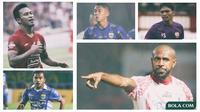 Kolase - Pemain Boaz Solossa, Zulham Zamrun, Ferdinand Sinaga, Febri Hariyadi, Osvaldo Haay (Bola.com/Adreanus Titus)
