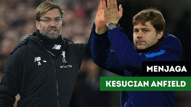 Jelang Liverpool vs Tottenham Hotspurs, Liverpool berambisi untuk menjaga kesucian stadion Anfield dari Kekalahan di Premier League.