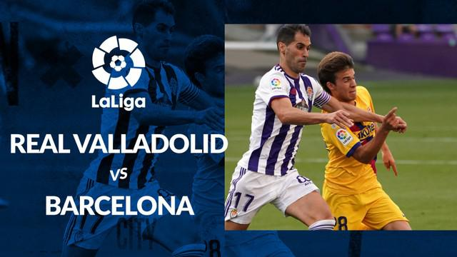 Berita motion grafis statistik Real Valladolid vs Barcelona pada lanjutan La Liga 2019-2020 pekan ke-36, Minggu (12/7/2020).