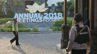 Suasana IMF World Bank Annual Meeting 2018 di Nusa Dua, Bali, Senin (8/10/2018). (Angga/Liputan6.com)